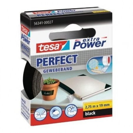 TESA Ruban toilé adhésif Extra power 19 mm x 2,75 m Noir
