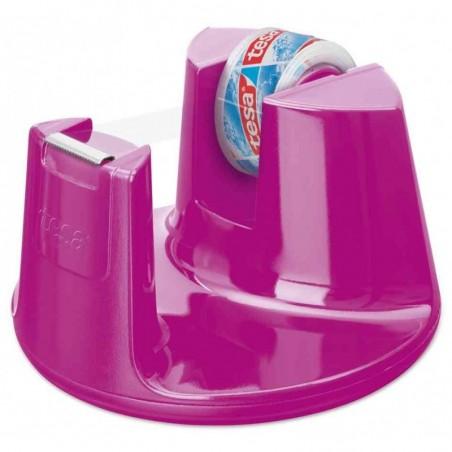 TESA Dévidoir de table Easy Cut Compact, équipé, rose