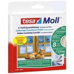 TESA Moll CLASSIC calfeutrage caoutchouc Profil E 9 mm x 10 m Marron