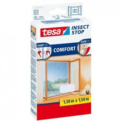 TESA Moustiquaire COMFORT pour fenêtre 1,30 x 1,50 m Blanc