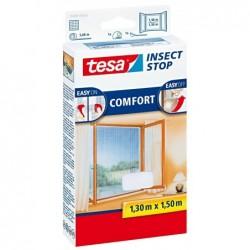 TESA Moustiquaire COMFORT pour fenêtre, 1,30 m x 1,30 m Anthracite