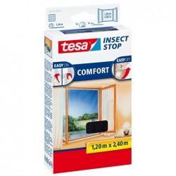 TESA Moustiquaire COMFORT pour fenêtres Dim 120 x 240 cm Anthracite