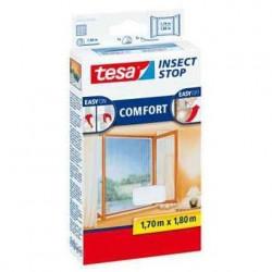 TESA moustiquaire COMFORT pour fenêtre, 1 m x 1 m, blanc