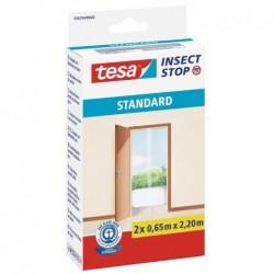 TESA Pack de 2 Moustiquaires STANDARD pour portes 0,65x2,2 m Blanc