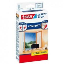 TESA Moustiquaire COMFORT 1,2 x 2,4 m pour fenêtres Blanc