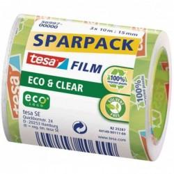TESA Film Eco & Clear PACK économique, transparent,15mm x10m