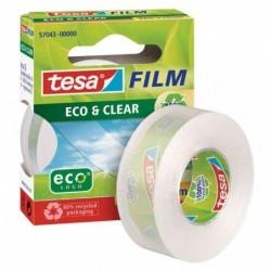 TESA Ruban adhésif Eco & Clear 15 mm x 10 m Transparent