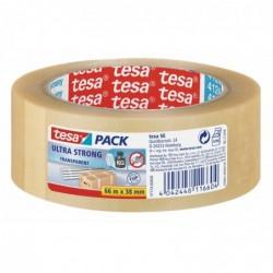 TESA Rouleau adhésif ultra emballage PVC 38mm x 66m Transparent