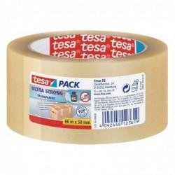 TESA Rouleau adhésif ultra emballage PVC 50mm x 66m Transparent