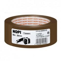 NOPI Lot de 8 rouleaux de ruban adhésif d'emballage en PP, 38mm x 66m, marron