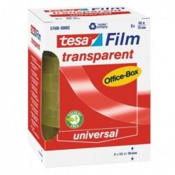 TESA Tour de 6 rouleaux de ruban adhésif 19 mm x 66 m Transparent