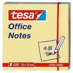 "TESA Lot de 12 Blocs ""Office Notes"" repositionnables, 75 x 75 mm, jaune"