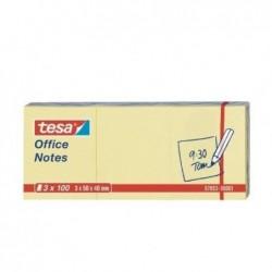 TESA Office Notes repositionnable 100 x 75 mm Jaune Lot de 12