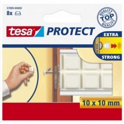 TESA Protect Lot de 8 pare-chocs de protection carré 10 x 10mm Blanc