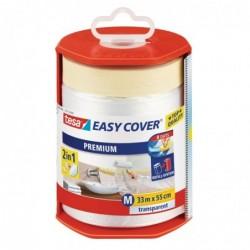 TESA Easy Cover Premium M Film de masquage avec dérouleur/bâche 33 m x 550 mm