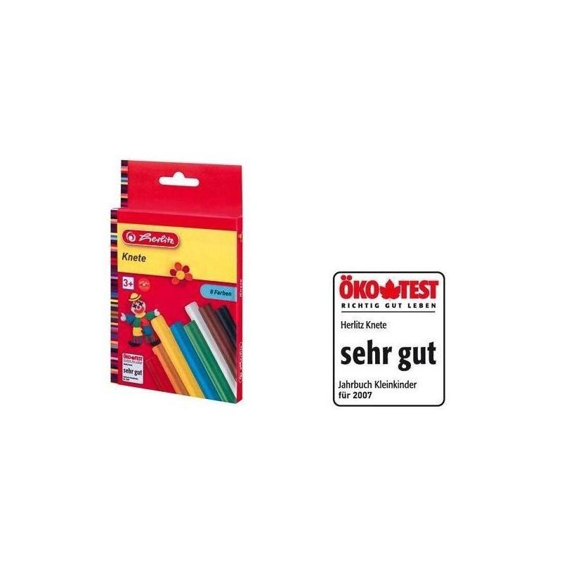 HERLITZ pâte à modeler, couleurs assorties, étui en carton