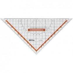 ROTRING Equerre géométrique Centro avec poignée hypoténuse 25 cm