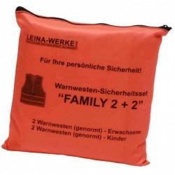 LEINA-WERKE Set de gilets de sécurité/gilets de signalisation 2+2 Orange