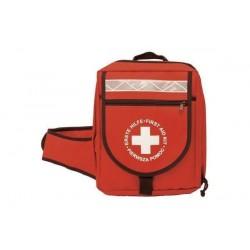 LEINA-WERKE sac à dos de premiers secours, contenu DIN 13160, Rouge