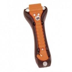 LEINA-WERKE marteau de secours, avec coupe ceinture, orange