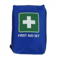 "LEINA-WERKE Kit mobile premiers soins ""First Aid"" 21 pièces Bleu"