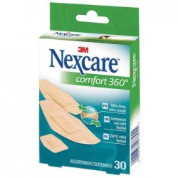 NEXCARE Pansement Comfort 360 degré 30 bandes assorties