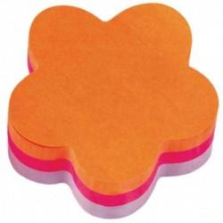POST-IT Bloc-notes Cube fleur fantaisie 70 x 70 mm, 225 feuilles orange/rose/violet