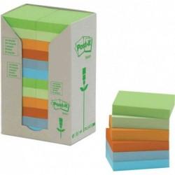 POST-IT Blocs Post-it Recycling Notes 76 x 76 mm pastel Lot de 16