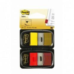 POST-IT Paquet de 2 Index 25,4 x 43,2 mm Rouge/jaune