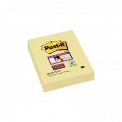 POST-IT Bloc 90 feuilles Notes repositionnables Super Sticky 51 x 76 mm Jaune