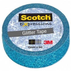 SCOTCH ruban adhésif créatif, 15 mm x 5 m, bleu