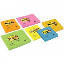 POST-IT Bloc-Notes repositionnable 100 Feuilles 76 x 76 mm Jaune néon