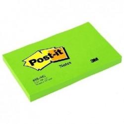 POST-IT Bloc-notes repositionnable 100 feuilles 127 x 76 mm Vert néon