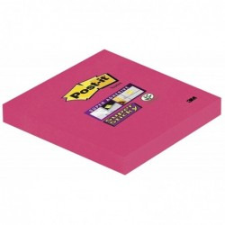 POST-IT Bloc-notes repositionnable 90 feuilles Super Sticky 76 x 76 mm Rouge Coquelicot