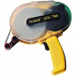 SCOTCH Dévidoir Applicateur pour adhésif ATG plastique Jaune