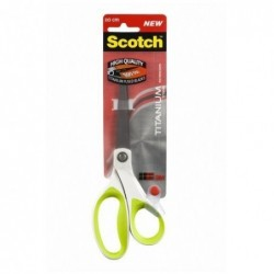 SCOTCH Ciseaux titanium, longueur: 200 mm, vert/blanc,