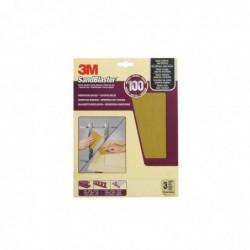 3M Papier abrasif à haut rendement SandBlaster Grain moyen P100 23 x 28 cm