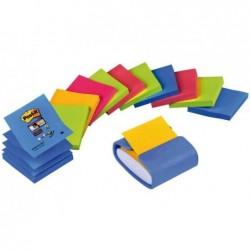 POST-IT distributeur Z-Notes, bleu clair, équipé, pack éco
