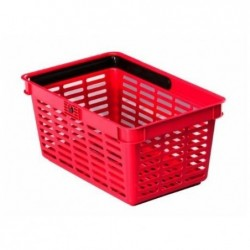 DURABLE Panier à provision SHOPPING BASKET 19 Empilable L448xP283xH212 mm Rouge