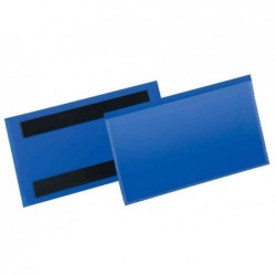 DURABLE Pack de 50 Plaques de signalisation, magnétique, A5 paysage,bleu