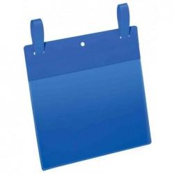 DURABLE Lot de 50 pochettes logistiques avec lanières A4 paysage 297x210 mm bleu