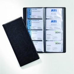 DURABLE Album VISIFIX 12 pochettes pour 192 Carte de visite 57x90 mm PVC Noir