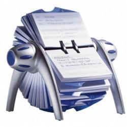 DURABLE fichier rotatif TELEINDEX flip, argent métal./ bleu