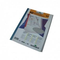 DURABLE Pqt de 10 Couertures pour reliure PVC A4 Transparent