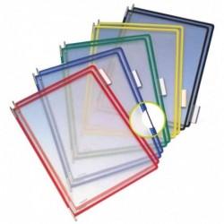 TARIFOLD Lot de 10 poches à pivot T Display Bleu