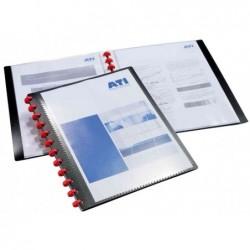 DURABLE Protège-documents DURALOOK Easy Plus Personnalisable 20 pochettes Noir