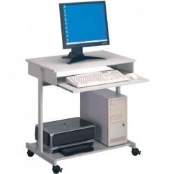 DURABLE table informatique Standard, gris métallisé / gris