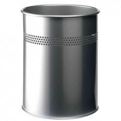 DURABLE corbeille à papier METAL ronde Diam 26 cm 15 litres Argent