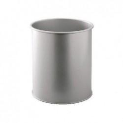 DURABLE Corbeille METALL, rond, 15 litres, argent méttalisé