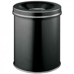 DURABLE Corbeille à papier DURABLE SAFE, ronde, 15 litres, noire